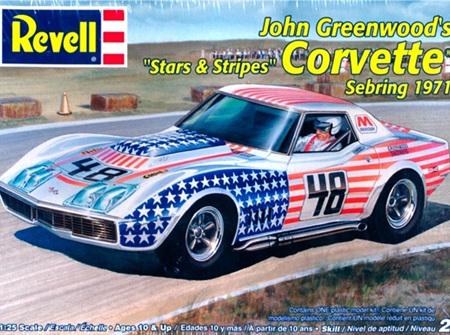 Revell 1/25 John Greenwoods Stars & Stripes Corvette Sebring 1971 (RMX2825)