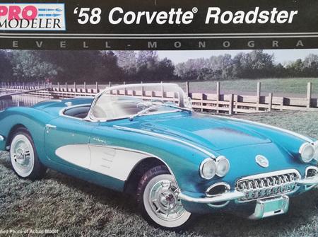 Revell/Pro Modeller 1/25 58 Corvette Roadster