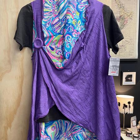 Reversible Cape - Purple Merino