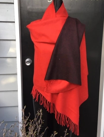 REVERSIBLE SCARF RED