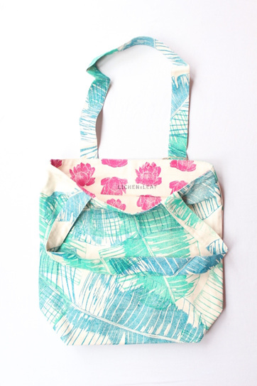 Reversible Tote Prickly Pear
