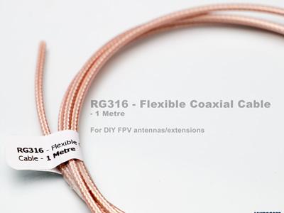 RG316 - Flexible Coaxial Cable - 1 Metre
