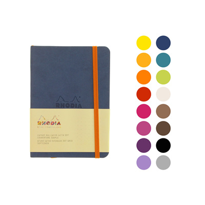 Rhodiarama notebook - A6 soft cover DOTTED