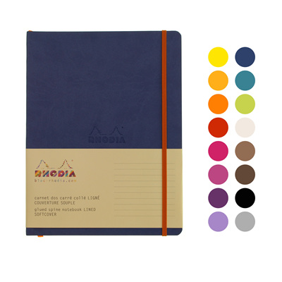 Rhodiarama notebook - B5 soft cover LINED