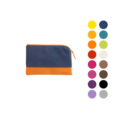 Rhodiarama zipped pouch - small