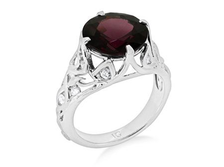 Rhodolite Garnet and Diamond Dress Ring