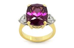 Rhodolite Garnet and Diamond Ring