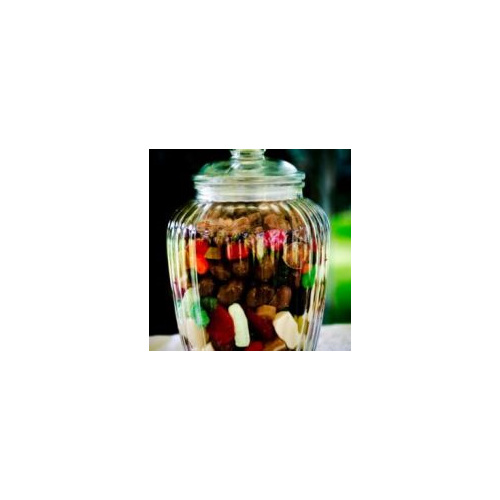 ribbed candy jar wedding and event hire