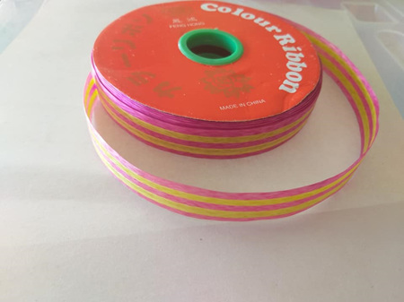 Ribbon - Pink & Gold  1.3cm wide