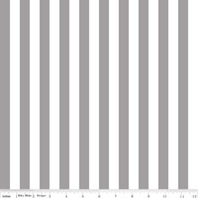"""Riley Blake 1/2"""" Stripe Gray"""