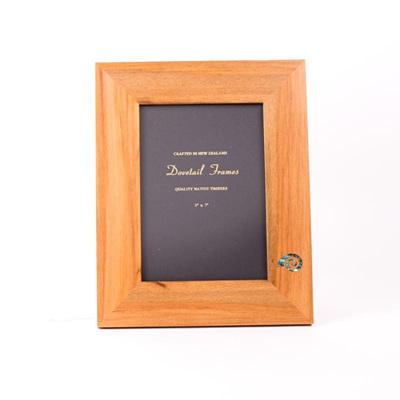 Rimu Dovetail Frame with Paua Koru