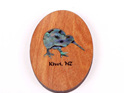 rimu fridge magnet with paua kiwi