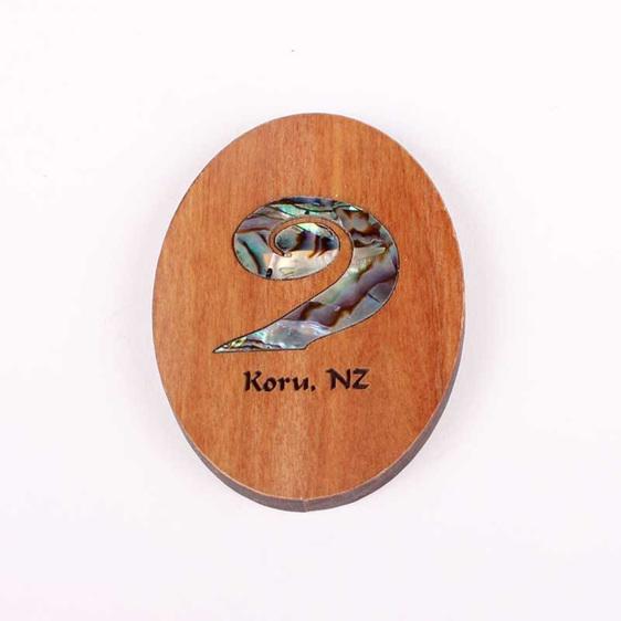 rimu fridge magnet with paua koru