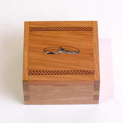 Ring Box with Wedding Rings