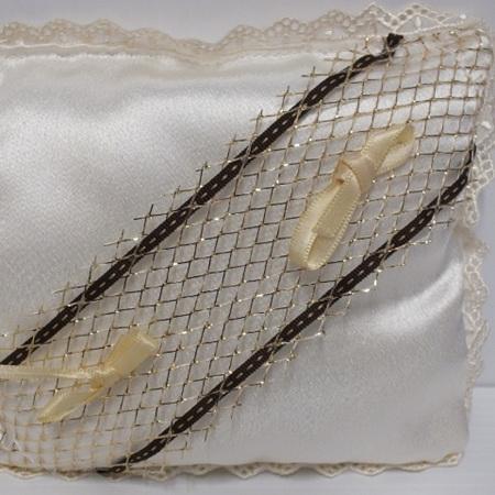 Ring Cushion Cream & Gold  4 styles 0620