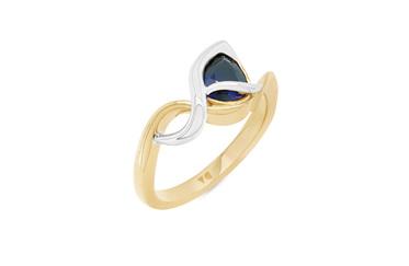 Ripple: Blue Sapphire Dress Ring