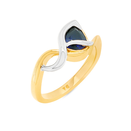 Ripple: Blue Sapphire Dress Ring