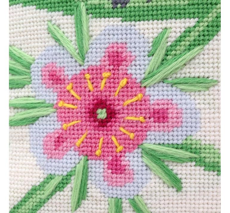 riroriro needlepoint kit grey warbler nz bird needlepoint