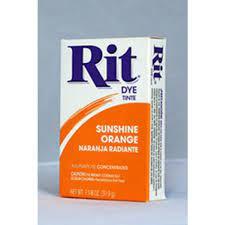 Rit Sunshine Orange All Purpose Dye Power