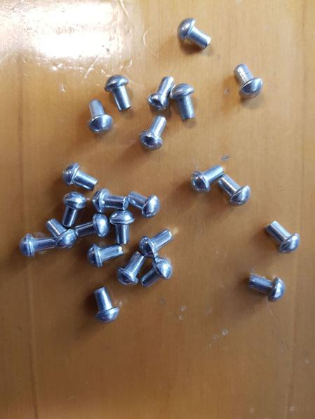 Rivets 1 - Packet of 25 10mm Mushroom Headed Rivets