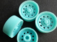 RMK 3D Printed Resin 1/24-1/25 17inch Modgie Wheels x4 - Premium Blue
