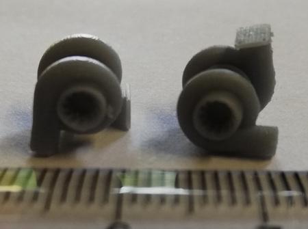 RMK 3D Printed Resin 1/24-1/25 Turbo Set