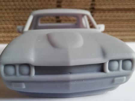 RMK 3D Printed Resin 1/24 1970 Ford Capri RS 2600 Body