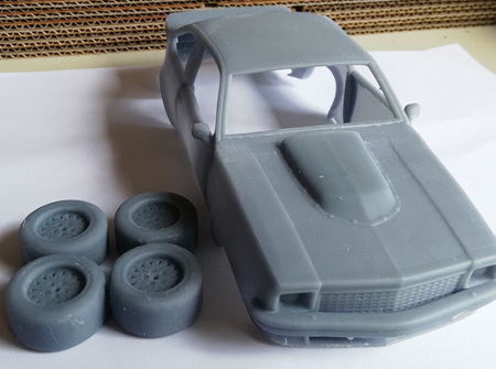 RMK 3D Printed Resin 1/24 1977 Holden Torana A9X Body & Wheels