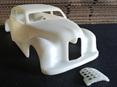 RMK 3D Printed Resin 1/25  1948 Austin A40 Dorset Chopped Gasser Body - Premium White