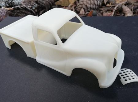 RMK 3D Printed Resin 1/25 1948 Austin A40 Pick-Up Gasser/Drag Body - Premium White