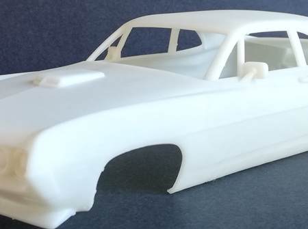 RMK 3D Printed Resin 1/25 1970 Falcon 429 Super Cobra Jet Body - Premium White