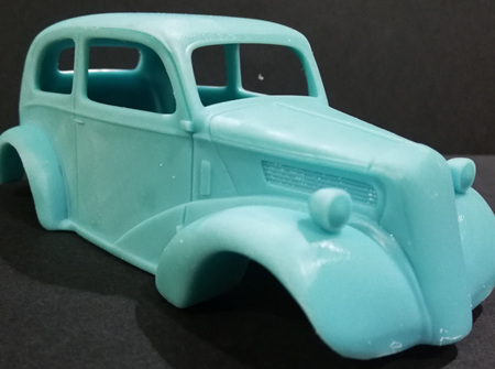 RMK 3D Printed Resin 1/25 Anglia Gasser Race Body - Premium Blue