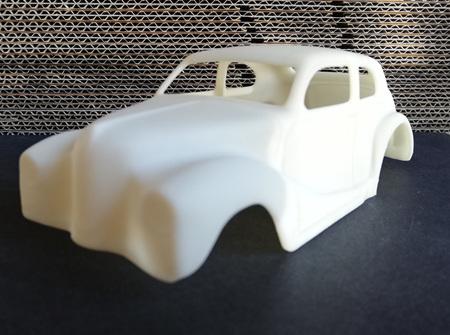 RMK 3D Printed Resin 1/25 Austin Gasser 'Mazmanian' Body - Premium White
