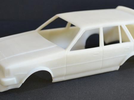 RMK 3D Printed Resin 1/25 KE70 Twin Light Corolla Wagon Wide Body - Premium White