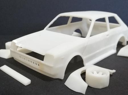 RMK 3D Printed Resin 1/25 KP61 Starlet Racing Kit - Premium White