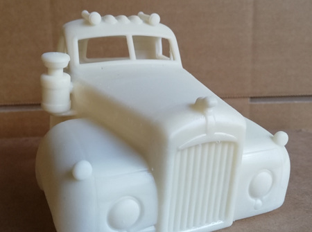 RMK 3D Printed Resin 1/25 Mack B Series Body - Premium White