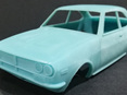 RMK 3D Printed Resin 1/25 Mazda RX2 Coupe Body - Premium Blue
