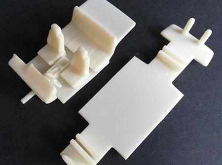 RMK 3D Printed Resin 1/25 Mazda RX2 Coupe Interior & Chassis - Premium White