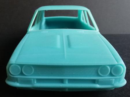 RMK 3D Printed Resin 1/25 Mazda RX2 Sedan Twin Headlight Body - Premium Blue