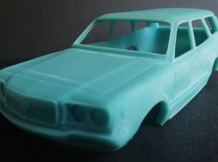 RMK 3D Printed Resin 1/25 Mazda RX3 10A Wagon Body - Premium Blue