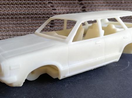 RMK 3D Printed Resin 1/25 Mazda RX3 10A Wagon Body - Premium White