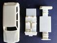 RMK 3D Printed Resin 1/25 Mazda RX3 10A Wagon Interior & Chassis - Premium White