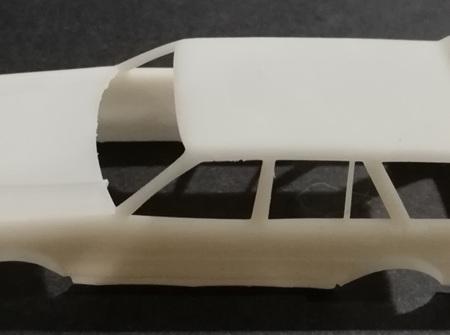 RMK 3D Printed Resin 1/64 KE70 Twin Light Corolla Wagon Wide Body - Premium White