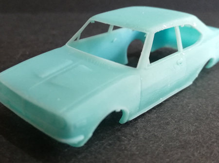 RMK 3D Printed Resin 1/64 Mazda RX2 Coupe Body - Premium Blue