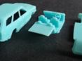 RMK 3D Printed Resin 1/64 Mazda RX3 10A Wagon - Premium Blue