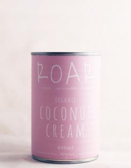 Roar Foods Coconut Cream Organic 400ml BPA free