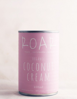 Roar Foods Coconut Cream Organic 400ml BPA free