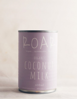 Roar Foods Coconut Milk Organic 400ml BPA free