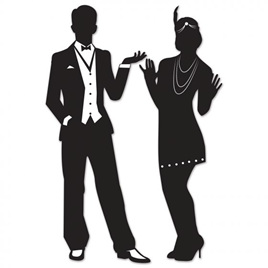 Roaring 20's silhouttes - 93cm high!