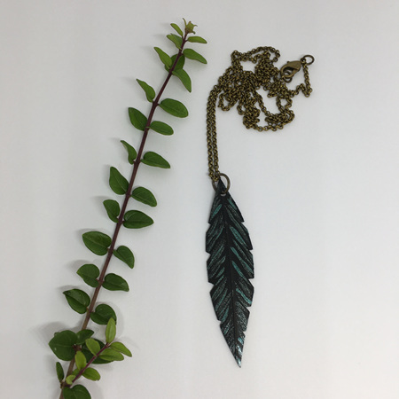 Robin Necklace with Green